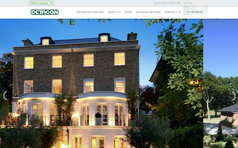 Screenshot of Home Page octagon.co.uk - Luxury New Homes London & South East I Property Developers Octagon - captured Nov. 17, 2015