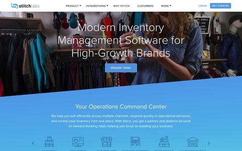 Screenshot of Home Page stitchlabs.com - Stitch Labs | Best Inventory Management Software - captured Oct. 13, 2017