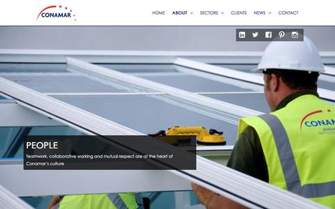 Screenshot of Team Page conamar.co.uk - People - Conamar Building Services - captured Nov. 10, 2016