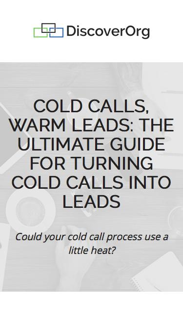 Cold Calls, Warm Leads eBook | DiscoverOrg