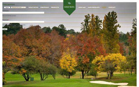 Screenshot of Login Page golfdata.co.za - User account | Golf Data - captured Sept. 30, 2014