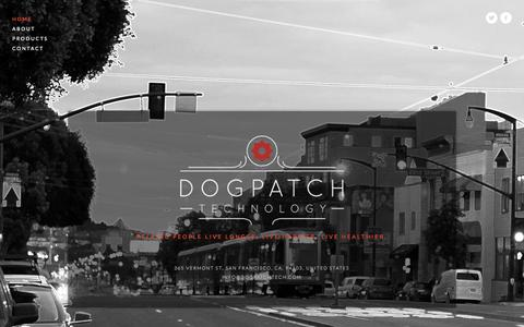 Screenshot of Home Page dogpatchtech.com - Dogpatch Technology - captured Sept. 12, 2015