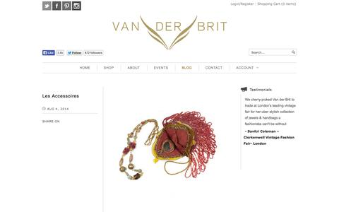 Screenshot of Blog vanderbrit.co.uk - BLOG | Van der Brit - captured Oct. 29, 2014