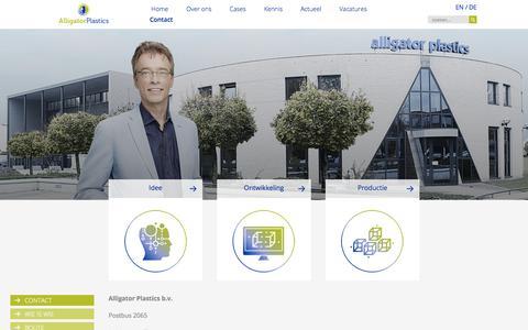 Screenshot of Contact Page alligator-plastics.nl - Contact   Alligator Plastics - kunststof spuitgieter - captured July 10, 2017