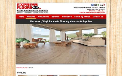 Screenshot of Products Page expressfloorstogo.com - Hardwood, Vinyl, Laminate Flooring Materials & SuppliesExpress Floors To Go - captured Dec. 13, 2015