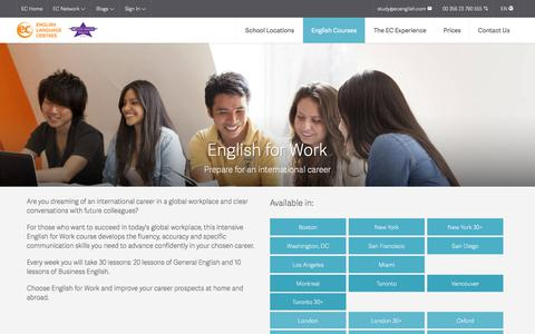 Learn English for Work - EC English Language Schools