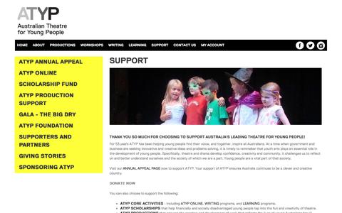 Screenshot of Support Page atyp.com.au - support   ATYP - captured June 9, 2016
