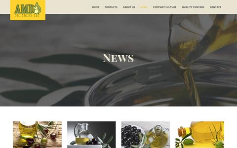 Screenshot of Press Page amdoilsales.com - News - AMD Oil Sales - captured Oct. 7, 2017