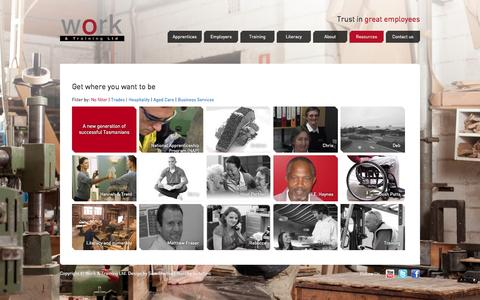 Screenshot of Case Studies Page work-training.com.au - Case Studies. Work and Training - captured Oct. 26, 2014