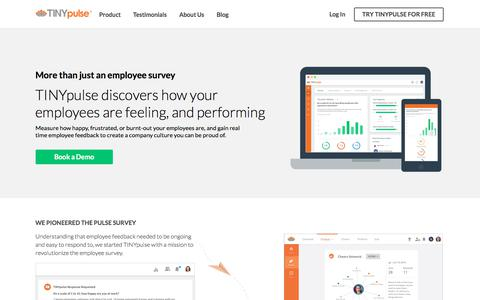 TINYpulse | Employee Engagement & Feedback Software
