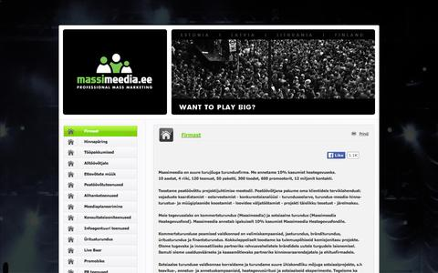 Screenshot of Home Page masskampaaniad.net - Massimeedia — Turunduse peatöövõtt ja projektijuhtimine. - captured Feb. 12, 2016