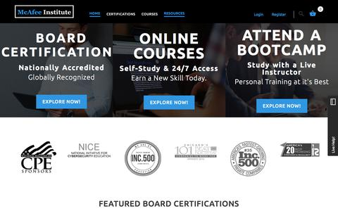 McAfee Institute - Online Courses, Board Certifications, Training