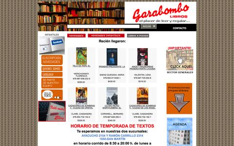 Screenshot of Home Page garabombo.com.ar - Libros Garabombo - captured March 4, 2016