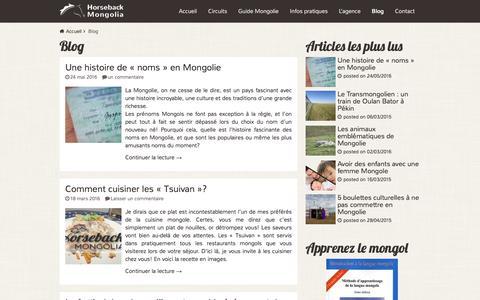 Screenshot of Blog voyage-mongolie.com - Blog Archives - Voyage Mongolie - captured June 2, 2016