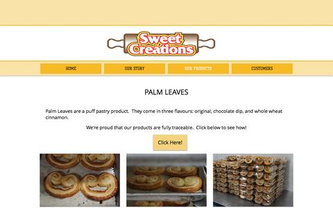 Screenshot of Products Page sweetcreations.ca - sweetcreations   OUR PRODUCTS - captured Dec. 1, 2016