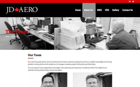 Screenshot of Team Page jdaeromaintenance.com - The Team - JD Aero | jdaeromaintenance.com - captured Oct. 1, 2018