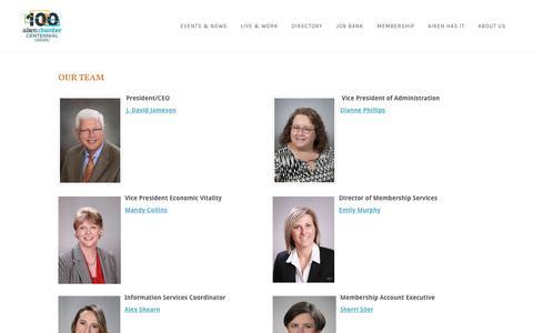 Screenshot of Team Page aikenchamber.net - Our Team | Aiken Chamber of Commerce | Aiken, SC - Aiken Chamber of Commerce | Aiken, SC - captured Oct. 3, 2018