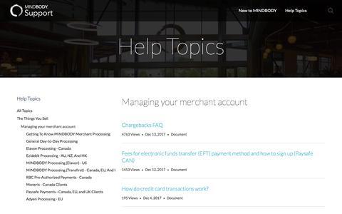 Managing your merchant account