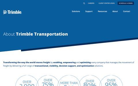 Screenshot of About Page trimble.com - (2) New Messages! - captured April 22, 2019