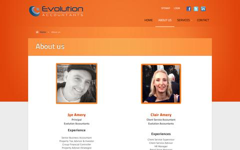 Screenshot of About Page evolutionaccountants.com.au - About us | Accountants Brisbane, Business and Property Accountants, Accountant Brisbane, Accountants for Brisbane - captured July 22, 2018