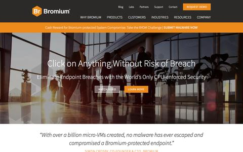 Bromium Endpoint Protection & Endpoint Security