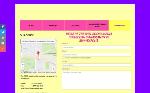 Screenshot of Contact Page bethebelle.com - Belle of The Ball : Contact - captured Nov. 22, 2016