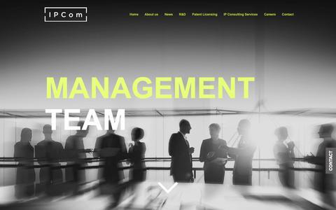 Screenshot of Team Page ipcom-munich.com - IPCom | IP Consulting Company | Management - captured Nov. 28, 2018