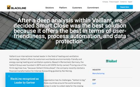 Screenshot of Case Studies Page blackline.com - Vaillant - captured Nov. 29, 2019