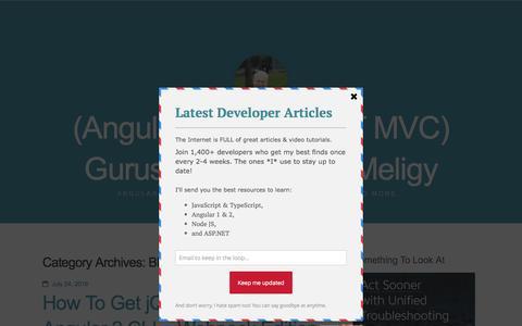 Screenshot of Blog gurustop.net - Blog / (Angular 2 & ASP.NET MVC) Gurustop.NET By @Meligy - captured Aug. 30, 2016