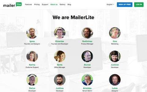 Team and History of MailerLite