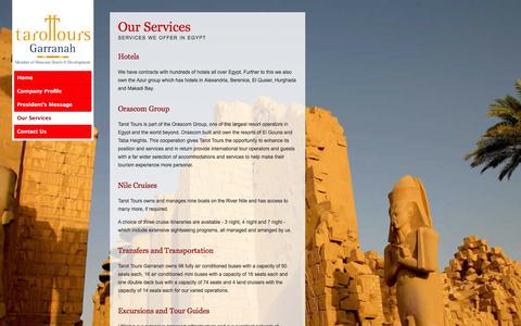 Screenshot of Services Page tarottours.co.uk - The Services of Tarot Tours UK - captured Oct. 7, 2014
