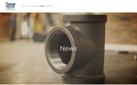 Screenshot of Press Page pdpinc.com - News — Project Design & Piping Inc. - captured Sept. 25, 2018