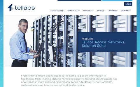 Tellabs |    Tellabs Access Networks Solution Suite