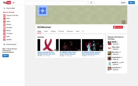 Screenshot of YouTube Page youtube.com - ACCMontreal  - YouTube - captured Oct. 23, 2014