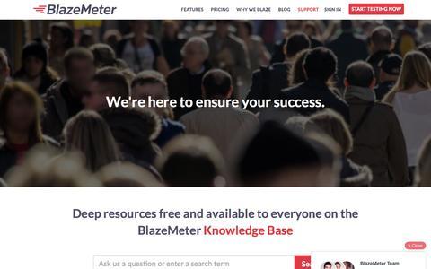 Screenshot of Support Page blazemeter.com - Support | BlazeMeter - captured Dec. 3, 2015