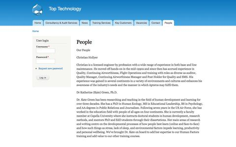 Screenshot of Team Page apterosgroup.com - People | Top Technology - captured Oct. 8, 2017
