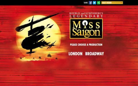 Screenshot of Home Page Privacy Page miss-saigon.com - Miss Saigon | The Official Website - captured Jan. 29, 2016