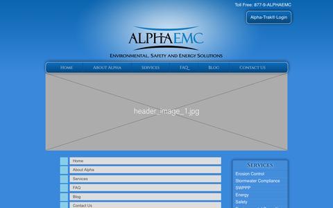 Screenshot of Site Map Page alphaemc.com captured May 29, 2017