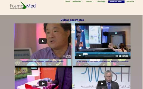 Screenshot of Press Page fosmomed.com - Media and News - captured Feb. 10, 2016