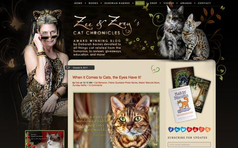 Screenshot of Blog zeezoey.com - The Chronicles of Zee & Zoey - captured Oct. 11, 2017
