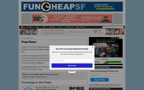 Screenshot of Press Page funcheap.com - FuncheapSF in the Press - captured Oct. 11, 2018