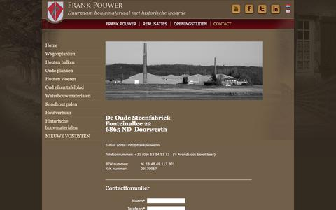 Screenshot of Contact Page frankpouwer.nl - Contact | Frank Pouwer - captured Oct. 14, 2017