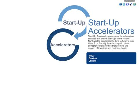 Screenshot of Home Page start-upaccelerators.com - Start-Up Accelerators - captured Oct. 7, 2014