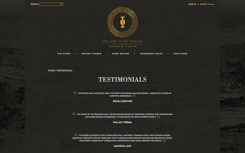 Screenshot of Testimonials Page thehomeofthetraveler.com - Testimonials - The Home of the Traveler - captured Sept. 30, 2014