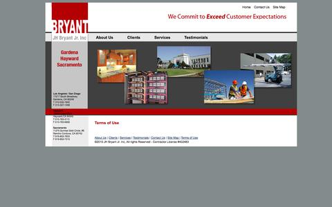 Screenshot of Terms Page jhbryant.com - J.H. Bryant Construction» - captured Oct. 4, 2014