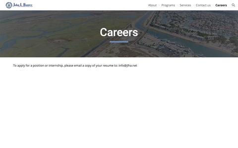 Screenshot of Jobs Page jlha.net - Careers - captured Oct. 14, 2018