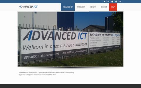 Screenshot of Home Page advanced-ict.nl - Home - Advanced ICT Urk - captured Sept. 30, 2014