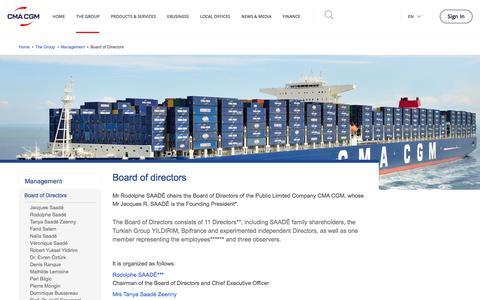 Screenshot of Team Page cma-cgm.com - Board of directors | CMA CGM Group - captured April 21, 2018