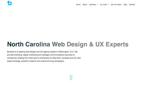 North Carolina Web Design & UX Experts | Bluetext