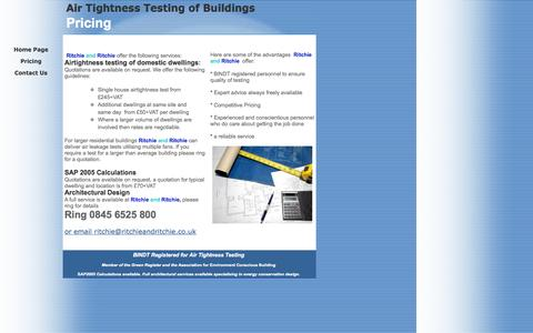 Screenshot of Pricing Page ritchieandritchie.co.uk - Pricing - captured Sept. 30, 2014